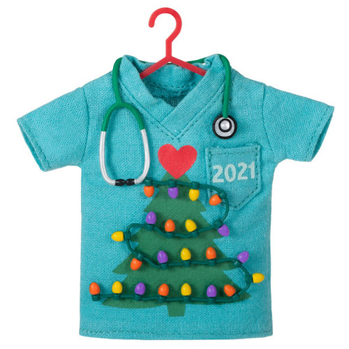 Caring at Heart Scrubs 2021 Fabric Ornament