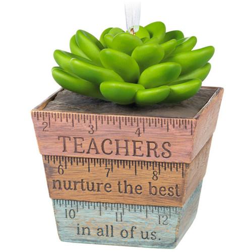 Thank You, Teacher! Succulent Planter Ornament