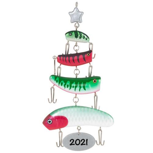 O Fishmas Tree Fishing Lures 2021 Ornament