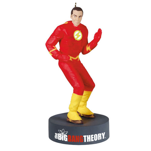 The Big Bang Theory™ Sheldon Cooper™ as The Flash™ Ornament With Sound
