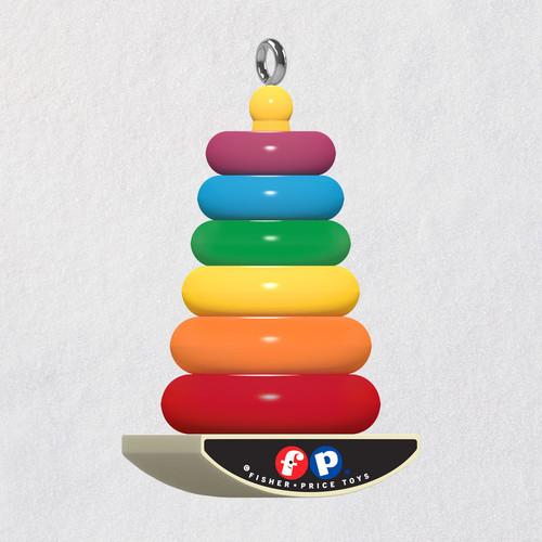 """Mini Fisher-Price™ Rock-a-Stack® Ornament, 0.875"""""""