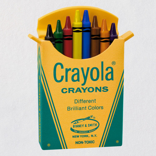 "Mini Crayola® Box of 8 Ornament, 1.1"""