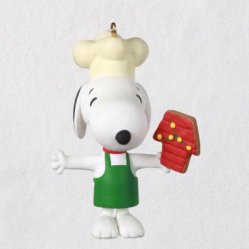 "Mini The Peanuts® Gang Baker Snoopy Ornament, 0.98"""