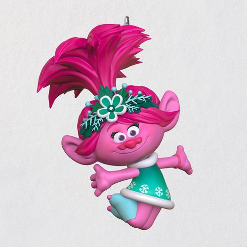 "Mini DreamWorks Animation Trolls Holiday in Harmony Poppy Ornament, 1"""