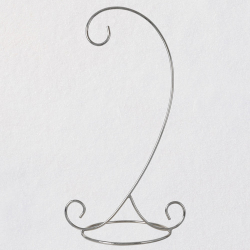 Decorative Silver Swirls Metal Ornament Display Stand