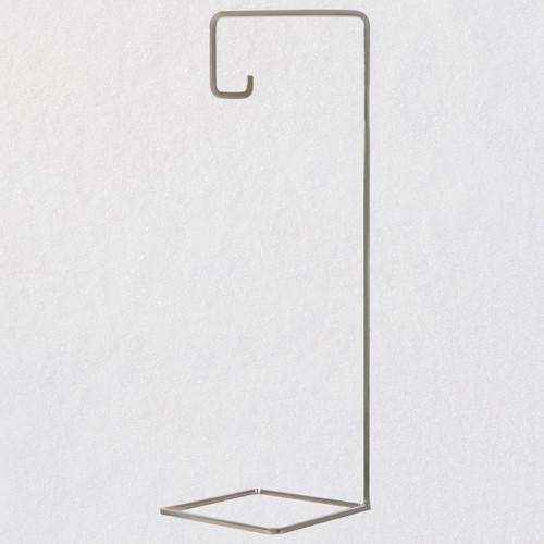Geometric Silver-Tone Metal Ornament Display Stand