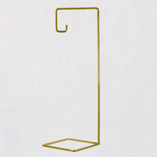 Geometric Gold-Tone Metal Ornament Display Stand