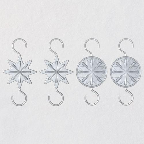 Miniature Star Metal Ornament Hooks, Pack of 4