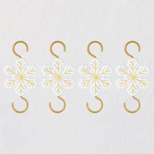 Miniature Snowflake Metal Ornament Hooks, Pack of 4