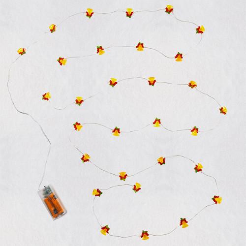 Miniature Decorative Bells Christmas String Lights, 9.5'