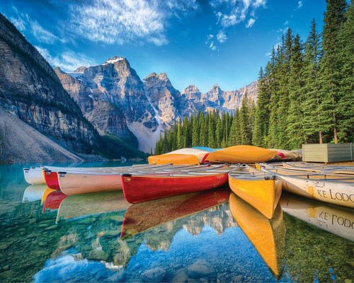 Calm Canoes 1000 Piece Jigsaw Puzzle