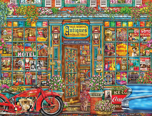 Old School Antiques 500 Piece Jigsaw Puzzle