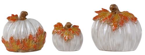 Ceramic Leaf Pumpkin