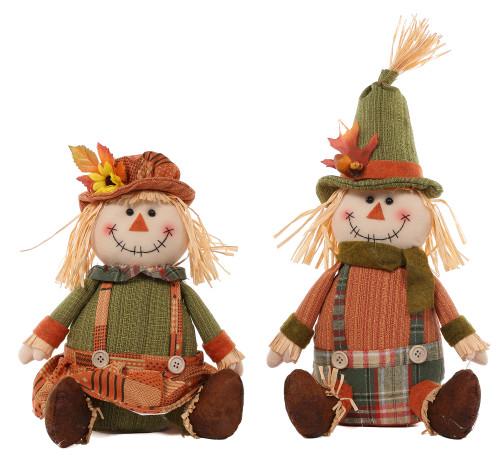 Plush Sitting Scarecrow