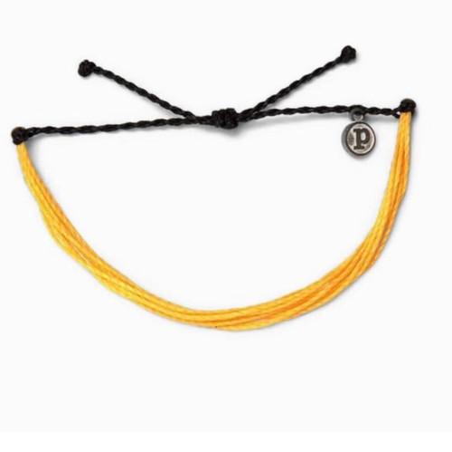 Pura Vida Yellow and Black Original Bracelet Suiside Prevention and Awareness