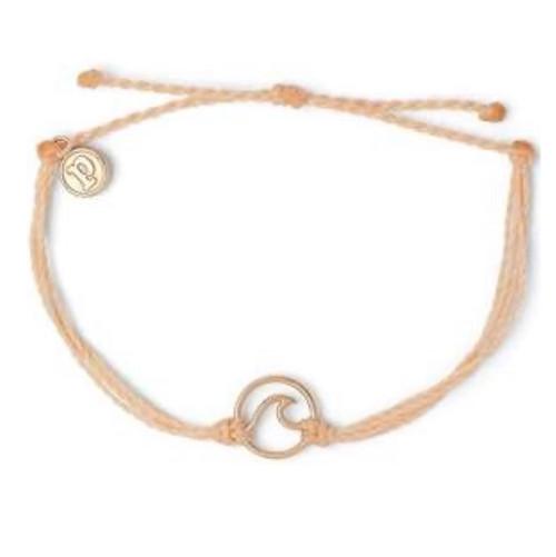 Pura Vida Rose Gold Wave Blush Bracelet