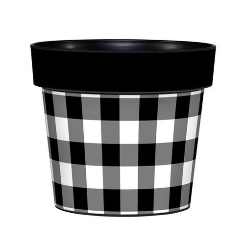 Black and White 6 inch Art Pot