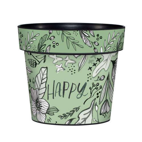 Happy 6 inch Art Pot