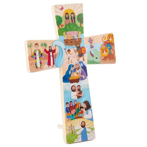 My Bible Stories Wooden Cross