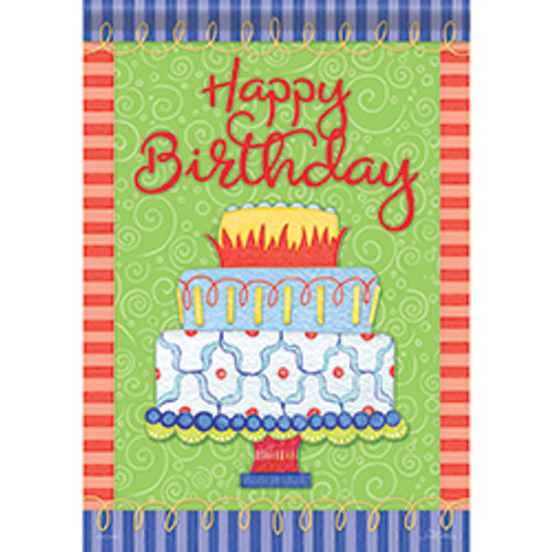 Birthday Time  Garden Flag