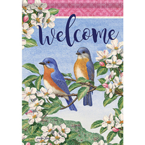 Bluebird Pair Garden Flag