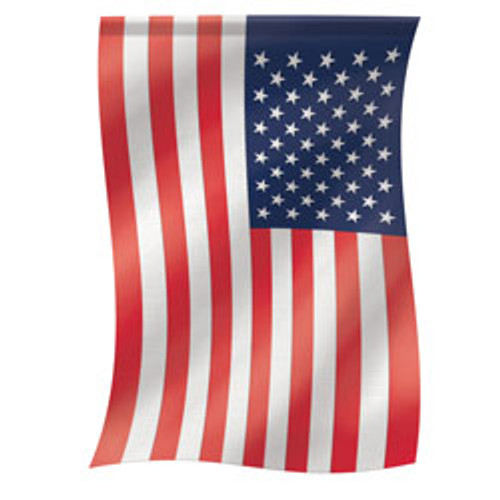 American Flag Embroidered Applique  Garden Flag