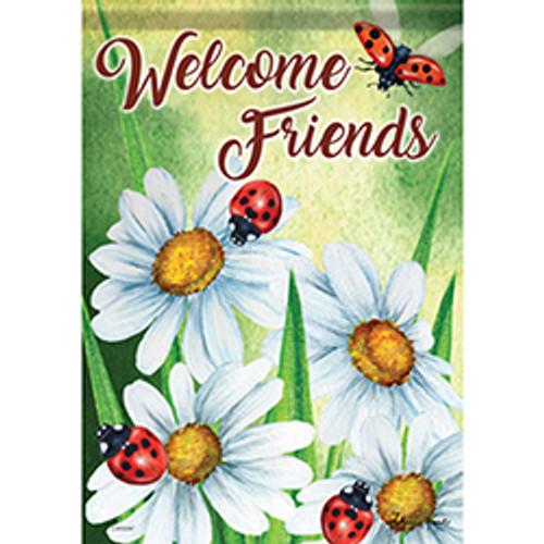 Happy Ladybugs  Garden Flag