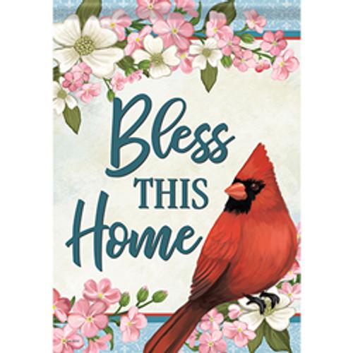 Cardinals & Blossoms Garden Flag