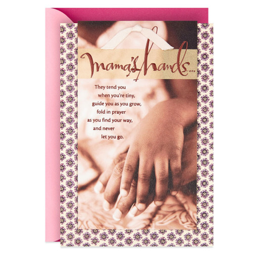 Your Hands, Your Heart, Your Love Mother's Day Card