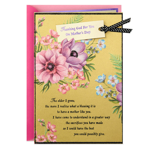 Day Spring Thanking God For You Religious Mother's Day Card