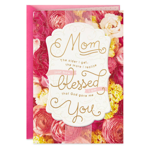 Day Spring God Gave Me You Religious Mother's Day Card From Adult Child
