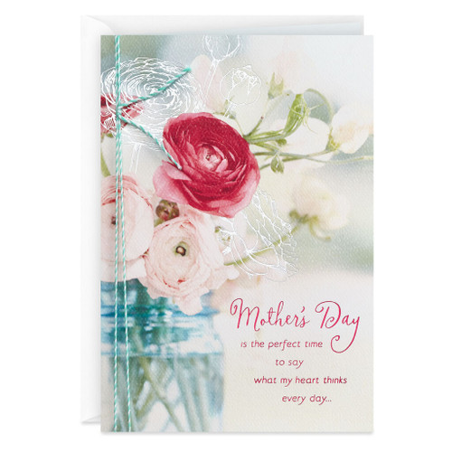 Day Spring Jar of Flowers Religious Mother's Day Card for Grandmother