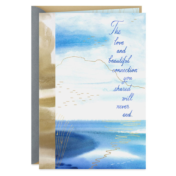 Tranquil Sea and Sky Sympathy Card for Loss of Spouse