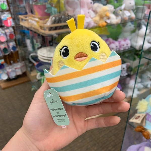 Easter Egg Chick Pull-String Toy