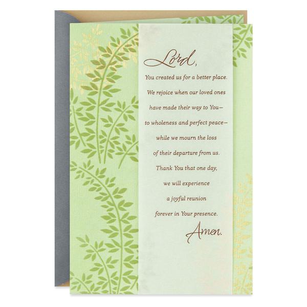 A Prayer to God Religious Sympathy Card