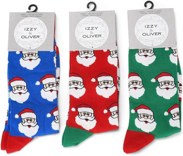 Izzy & Oliver Santa Socks - 1 Pair