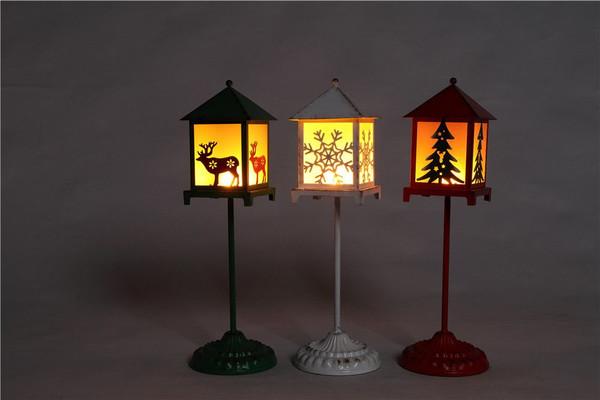 Large Red/Green/White Lantern Stand