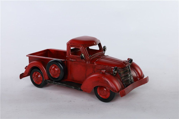 Metal Red Truck/Spare Container