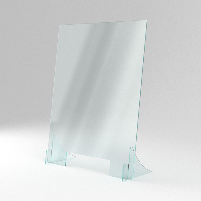 Angled Sneeze Shield for retail, angled sneeze shield for hospitality, angled sneeze shield for healthcare