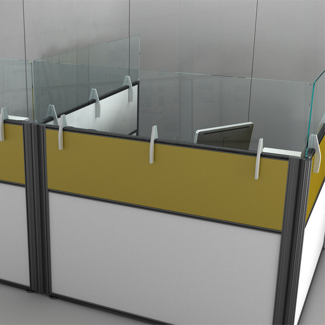 Cubicle Workspace Divider and Sneeze Shield