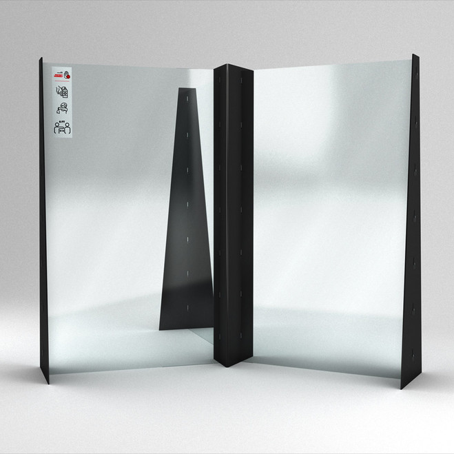 Sneeze Shield Triple Standing Workstation Divider