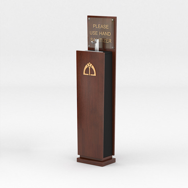 Small Hand Sanitizer Stand with Automatic Pump Dispenser
