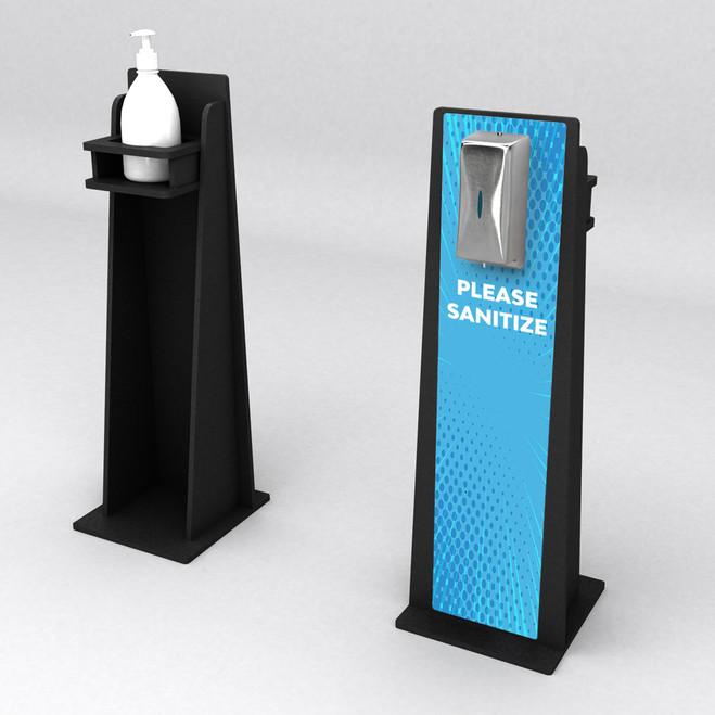 Superior Hand Sanitizer Stand Wide with Graphics