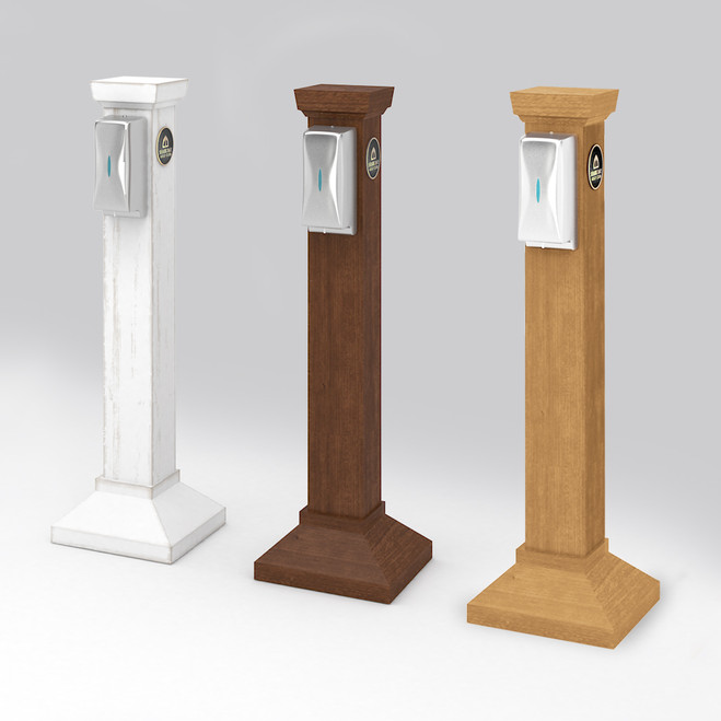 Hartland Pedestal with Touchless Hand Sanitizer Dispenser