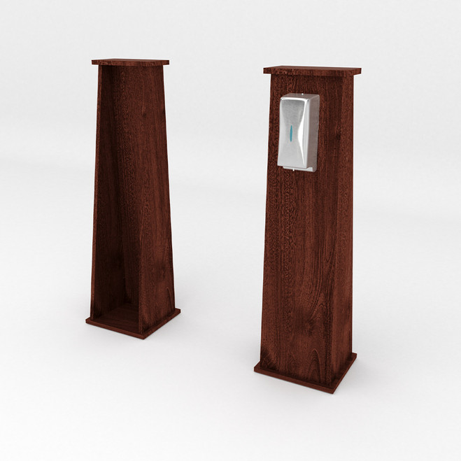 Narrow Superior Hand Sanitizer Stand - Laminate - Cocoa Maple