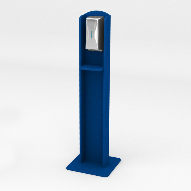 Nashotah Hand Sanitizer Stand - Recycled Plastic - Blue