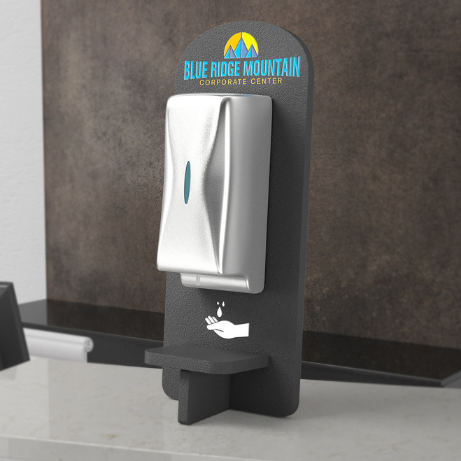 Counter Sanitizer Stand with Logo