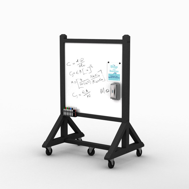 Standard Portable Rolling Whiteboard - Small