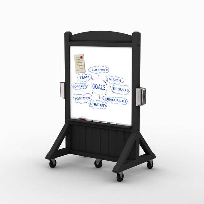 Deluxe Portable Rolling Whiteboard - Small