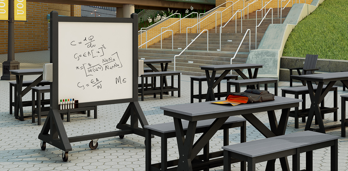 Portable Rolling Whiteboards for indoor or outdoor use